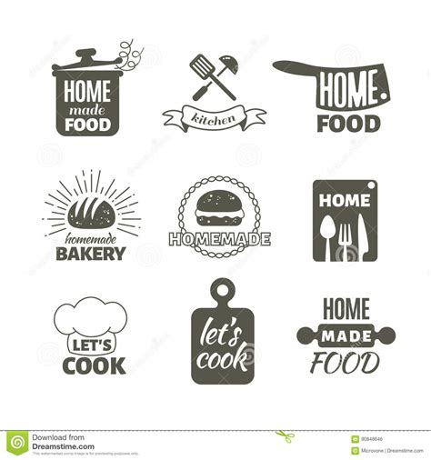 Kitchen Tools Silhouette Icons Set Household Stock