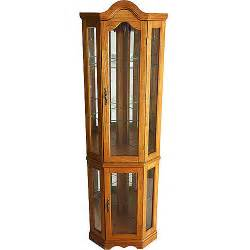 corner lighted curio cabinet golden oak walmart com