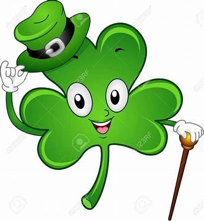 Lucky Clipart Charm Cartoon Irish Shamrock Kleeblatt