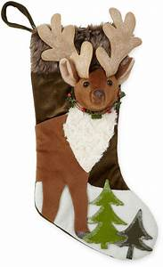 North, Pole, Trading, Co, Winter, Lodge, 3d, Reindeer, Christmas, Stocking, Reindeer, Christmas, Chr