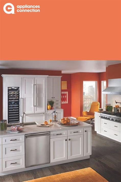 bright orange  white kitchen  thermador appliances