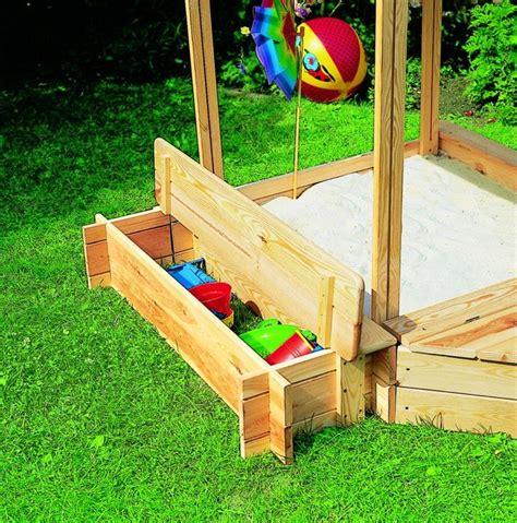 Sandkasten Holz Promadino «peter Pan» Dach Sitzbank