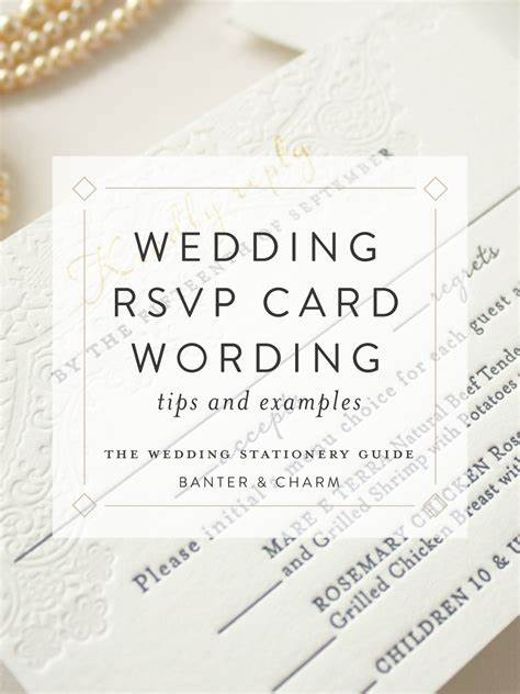 Wedding Stationery Guide: RSVP Card Wording Samples