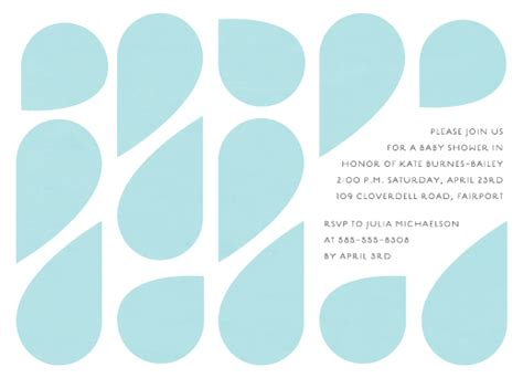 Drop In Baby Shower - baby shower invitations mod drop at minted
