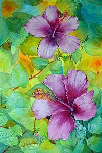 hibiscus watercolor painting watercolor flowers floral