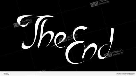 Drawing The End Stock Animation 1195652