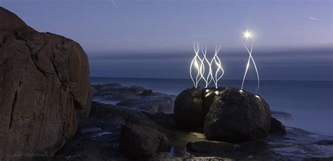 light painting and landscape photography william bay