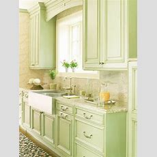 Kitchen In Light, Spring Green And White So Country And