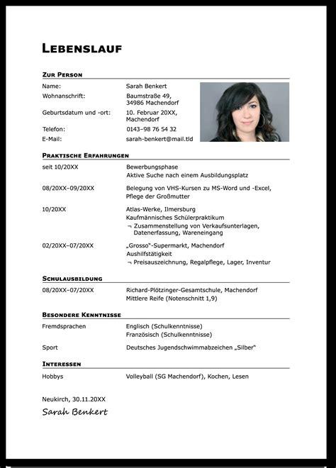 Bewerbung Schreiben Lebenslauf by 15 Vorlagen Bewerbung Nach Ausbildung Lebenslauf F 252 R Jede