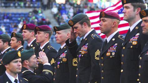 military appreciation day  seahawks  vikings