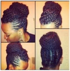 Black Hair Braided Updo Hairstyles