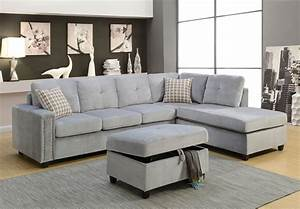 acme furniture belville gray reversible sectional sofa With grey sectional sofas