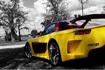 Mazda Rx Veilside Rx7 Wallpapers Yellow Background