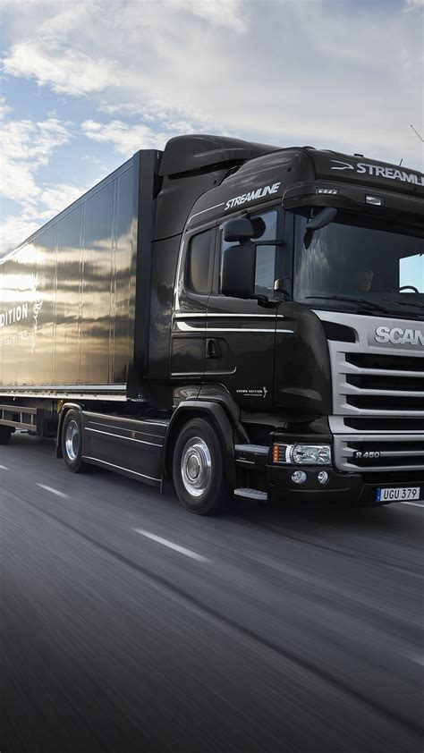 wallpaper scania  black track crown edition cars