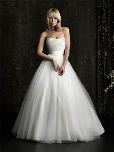 simple ball gown princess strapless plain satin tulle With plain wedding dresses