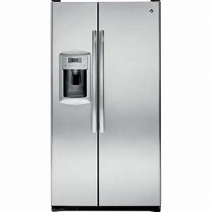 GE 22.7 cu. ft. Counter-Depth Side-by-Side Refrigerator w ...