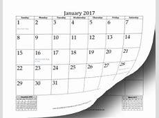Printable 2017 Mini Month Calendar