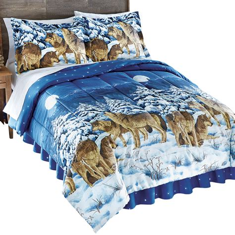 28 best wolf comforter sets mountain cabin lodge wolf