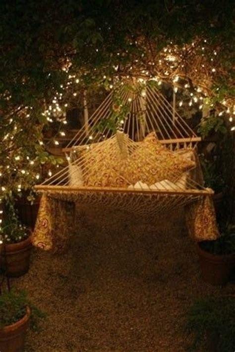 backyard hammock  night lights pictures
