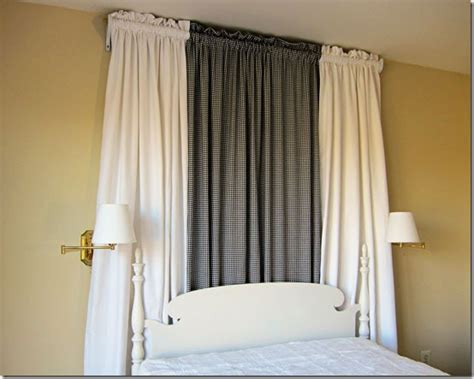 how to make canopy bed curtains the easy way inmyownstyle