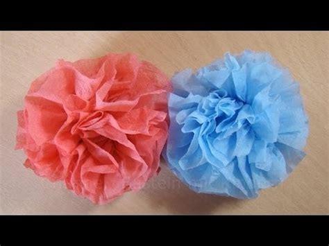 basteln mit papier blumen bastelanleitung blumen basteln aus servietten