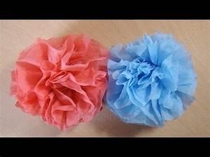Papierblumen Basteln Anleitung : bastelanleitung blumen basteln aus servietten youtube ~ Orissabook.com Haus und Dekorationen