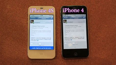 how can i tell what of iphone i iphone 4s vs iphone 4 speed test