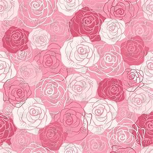Seamless pink pattern of stylized buds of roses, download ...
