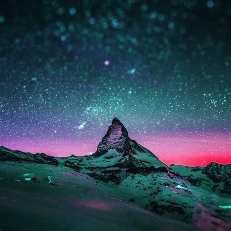 due spettacolari foto  cielo stellato  effetto