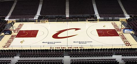 Cavs Lakers Floor Seats by New Cavs Court Is Cool Clean Classic The Official