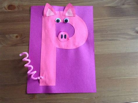 P Is For Pig! Make A Letter For Each Animal In #churchill