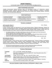 chief enterprise architect resume sle exle chief enterprise architect resume sle