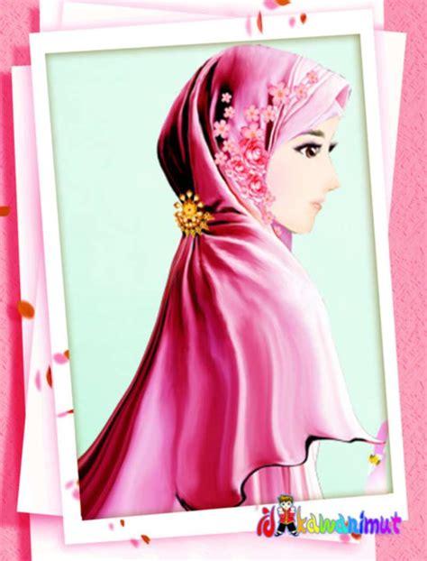 Anime Kacamata Cantik Kartun Muslimah Kacamata Gambar Kartun