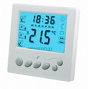 Large Lcd 20a 220vac Underfloor Heating Thermostat With