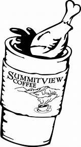Coloring Coffee Cup Chicken Leg Fried Animals Rainforest Drawing Getdrawings Drumstick Printable Getcolorings sketch template
