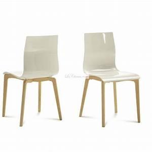 Chaise Blanche Plastique : chaise plastique blanche design id es de d coration int rieure french decor ~ Teatrodelosmanantiales.com Idées de Décoration