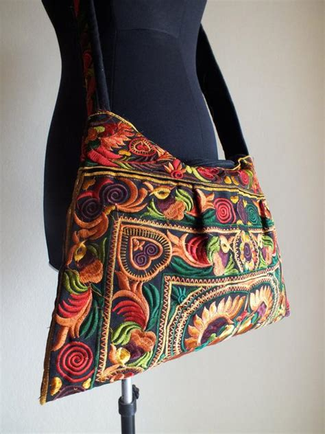 ethnic handmade bag  fabric bohemian style handbags