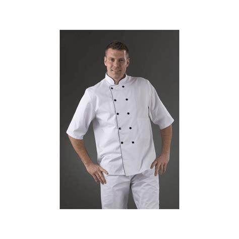 cuisine homme veste cuisine manches courtes pressions col blanc label blouse