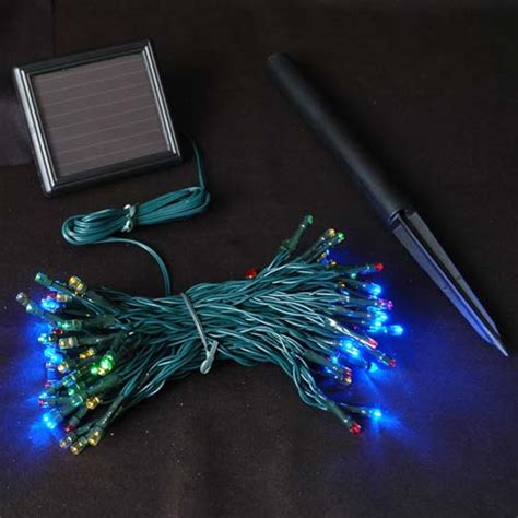 multi colored solar lights with 100 bulbs