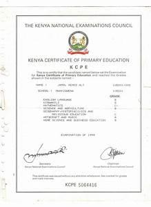 KCPE Certificate