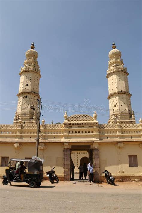 jama masjid front elevation  delhi editorial stock