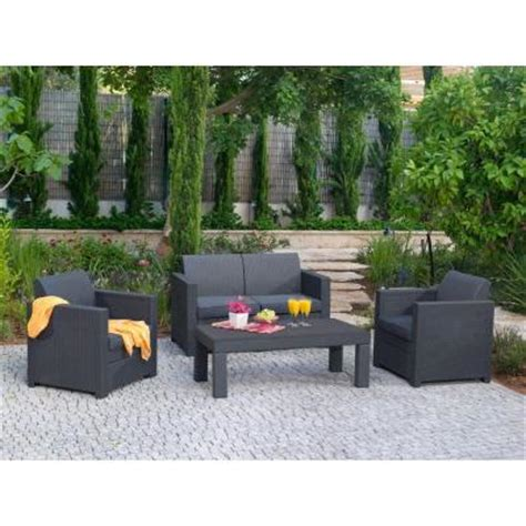 Patio Furniture Conversation Sets Home Depot by Keter Limousine 4 Patio Conversation Set With