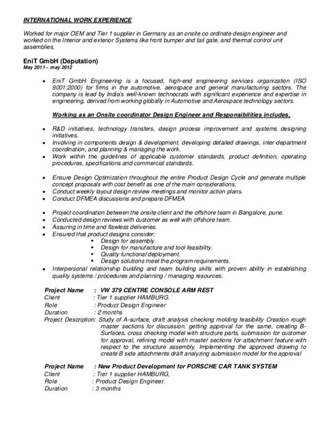Automotive Engineer Resume by Automotive Resume Sacheen 09