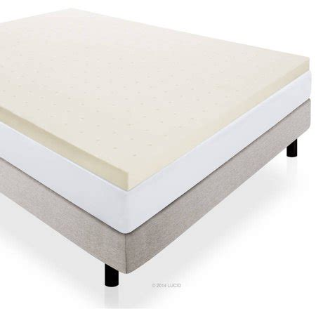 mattress topper walmart lucid 3 quot plush ventilated memory foam mattress topper