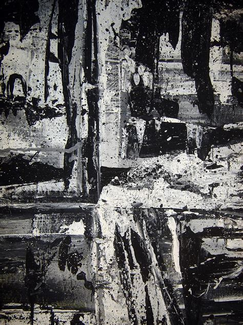 Abstract Painting Black And White by Black And White Abstract Painting By Neeley