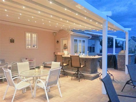 retractable patio roof creates  modern    outdoor space