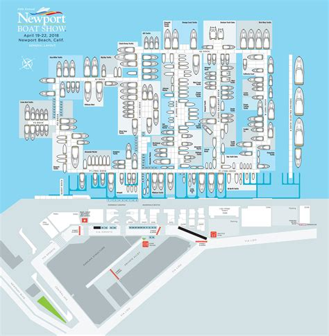 Newport Boat Show Discount Tickets by Space Map Newport In Water Boat Show