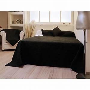 Couvre Lit Matelassé Ikea : couvre lit matelass double face orchid e noir achat vente jet e de lit boutis cdiscount ~ Melissatoandfro.com Idées de Décoration