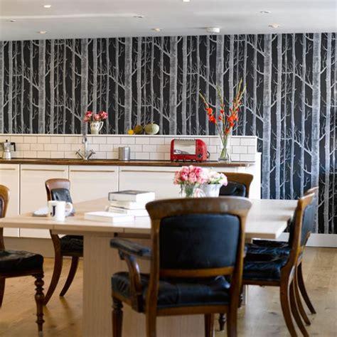 feature wallpaper  kitchen  grasscloth wallpaper
