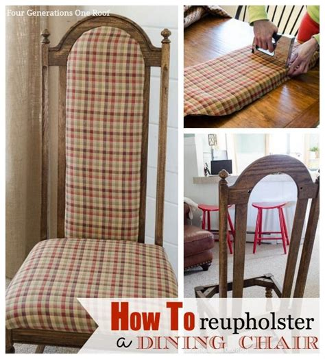 How To Reupholster A Dining 170 Best Images About Repurpose Chairs Stools On